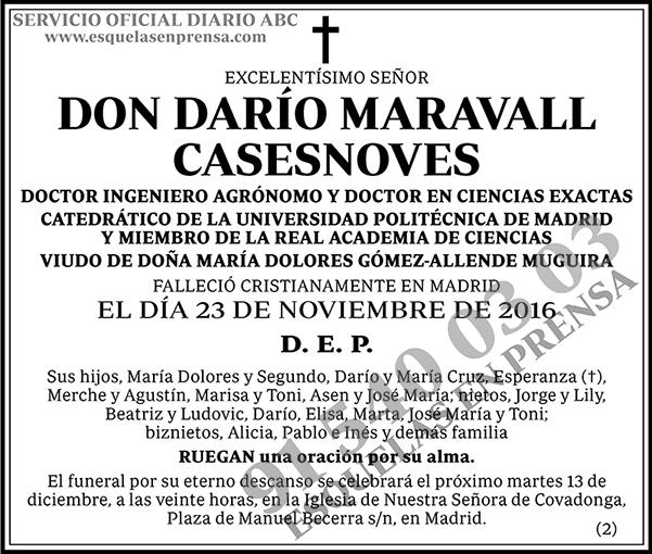 Darío Maravall Casesnoves